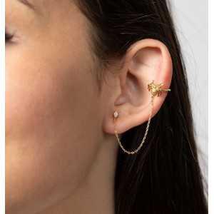 925 Sterling zilveren earcuff spin en zirkonia