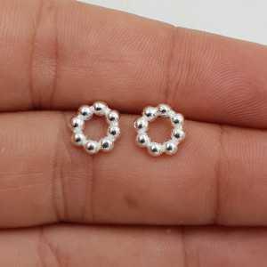 925 Sterling zilveren dotted open ring oorknoppen