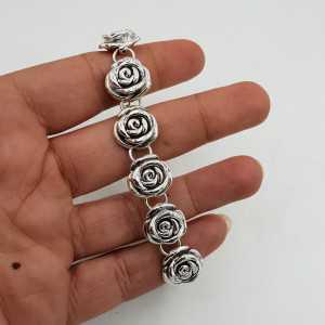 Zilveren armband roosjes
