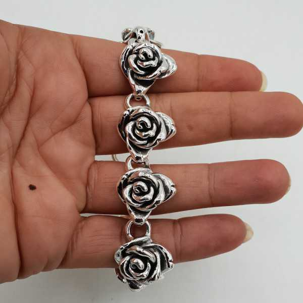 925 Sterling zilveren armband rozen