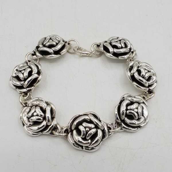 925 Sterling zilveren armband roosjes