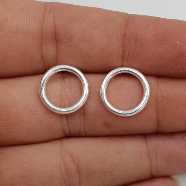 925 Sterling zilveren open ring oorknoppen