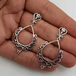 925 Sterling zilveren bewerkte oorhangers