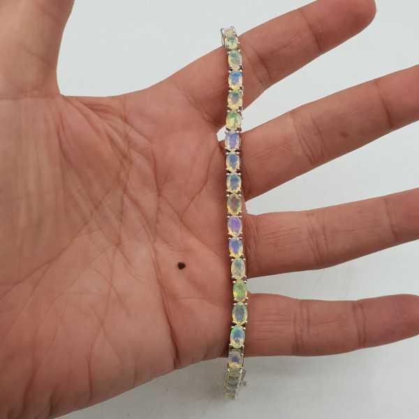 925 Sterling zilveren armband Ethiopische Opalen
