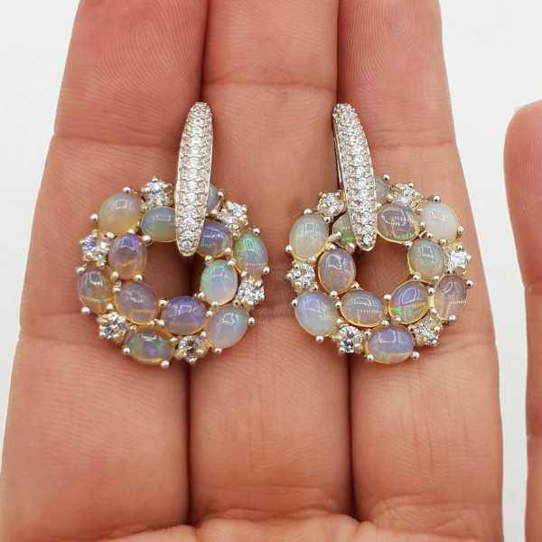 925 Sterling zilveren oorbellen met Ethiopische Opalen