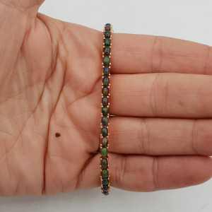 Rosé goud vergulde armband met zwarte Opalen