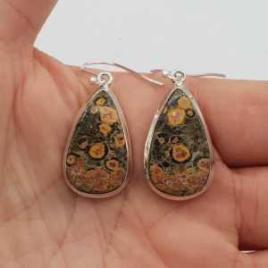 925 Sterling zilveren oorbellen Luipaard Jaspis
