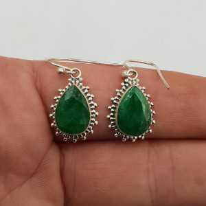 925 Sterling zilveren oorbellen Emerald
