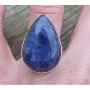Silber ring set mit eine Ovale Form Sodalith 17.7 mm