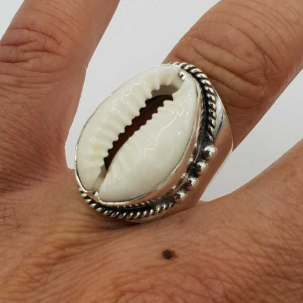 925 Sterling zilveren ring met Cowrie schelp