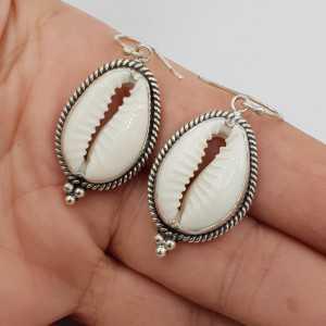 925 Sterling zilveren oorbellen Cowrie schelp
