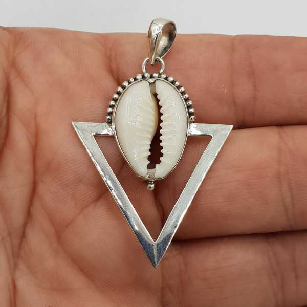 Zilveren hanger Cowrie schelp
