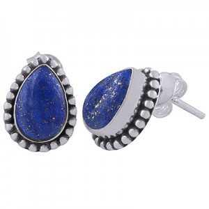 925 Sterling zilveren oorknoppen Lapis Lazuli