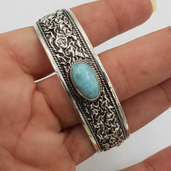 925 Sterling zilveren bangle Larimar