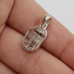 925 Sterling zilveren hanger ruwe Herkimer diamant