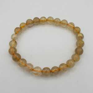 Stretch armband gouden Rutielkwarts