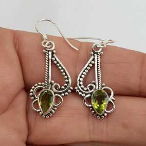 925 Sterling zilveren oorbellen met Peridot
