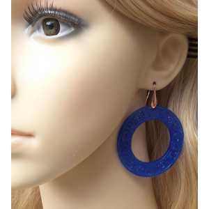 Ohrringe mit große round-cut blue Jade