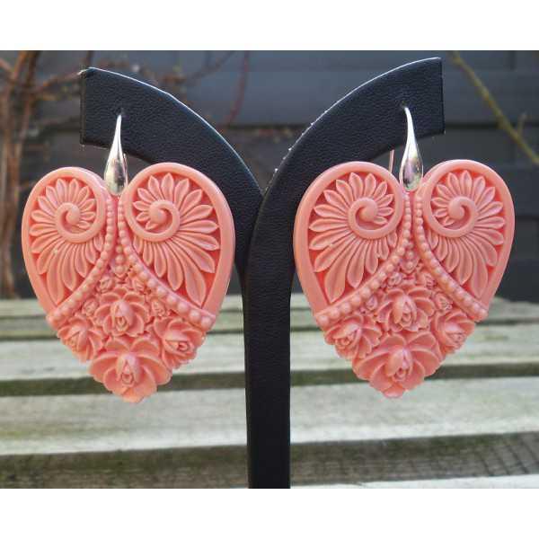 Ohrringe mit cut-out Herz