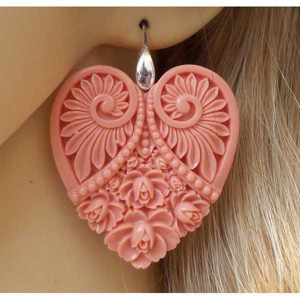 Silber-Ohrringe mit cut-out Herz