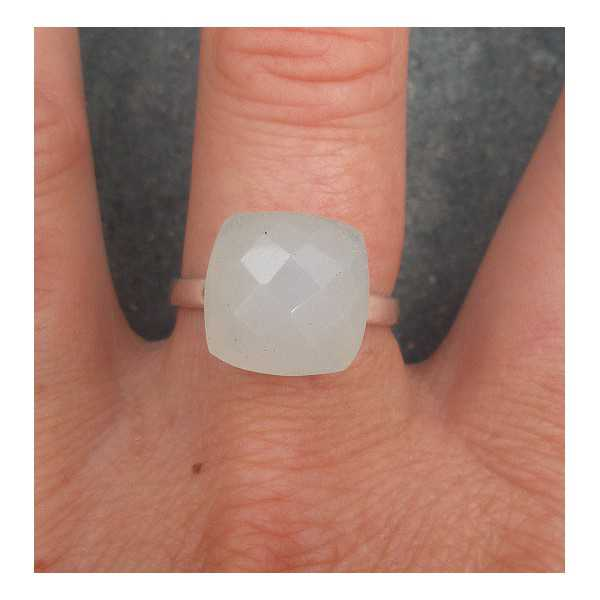 Silber ring-set mit weißem Onyx