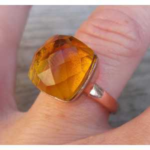 Rosé gold-plated ring set with Citrine