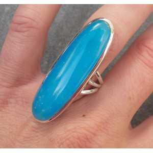 Silber ring set mit kleinen ovalen Smithsoniet 18 mm
