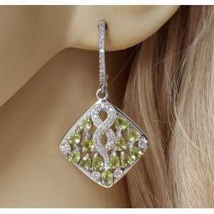 Silber Ohrringe-set mit Cz Peridot und