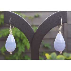 Ohrringe mit blauen Spitze-Achat-briolet