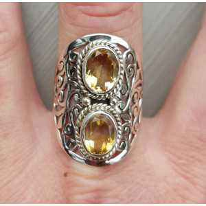 Silber ring set mit Citrin 19.7 mm