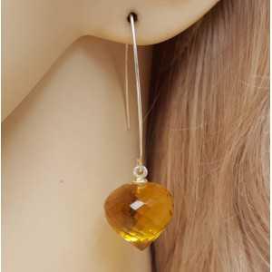 Silber Ohrringe mit Citrin Zwiebel