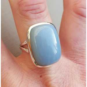 Silber ring set mit Owyhee opal ist 19 mm