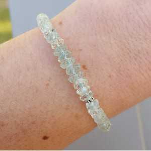 Zilveren armband met Aquamarijn