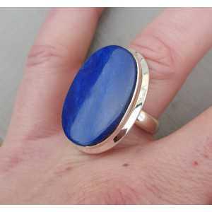 Silber ring set mit ovalen cabochon Lapis Lazuli 16,5 mm