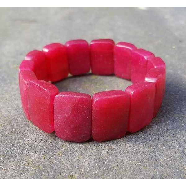 Große rote Jade Stretch-Armband