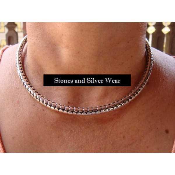 Silver brooch necklace