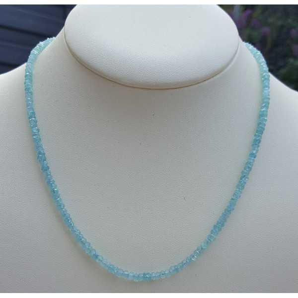 Silber Halskette mit Aquamarin