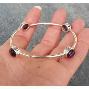 Silber-Armband / Armband-set mit Amethyst