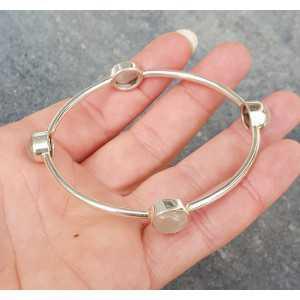 Silber Armband / Armreif-set mit Rosenquarz