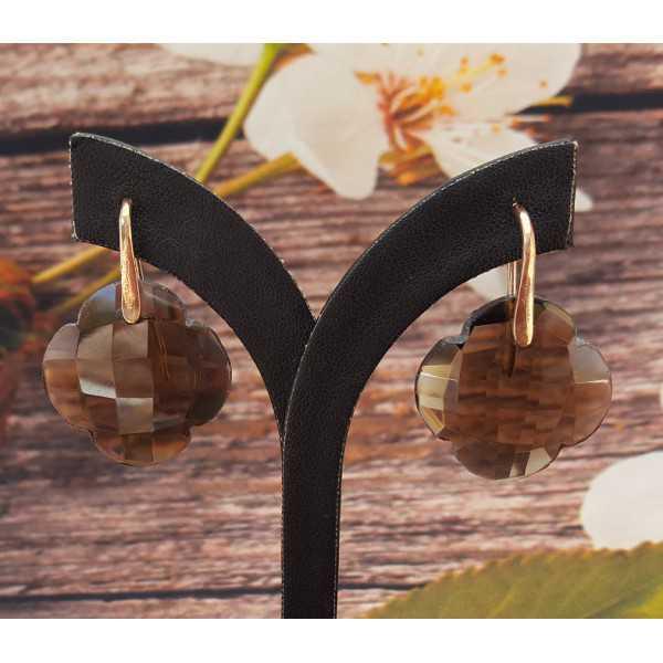 Ohrringe mit kleeblatt von Smokey Topaz