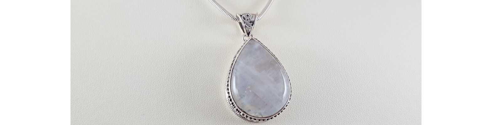 Silver Gemstone Pendants