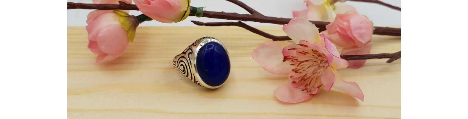Silver Gemstone Rings (men's rings)